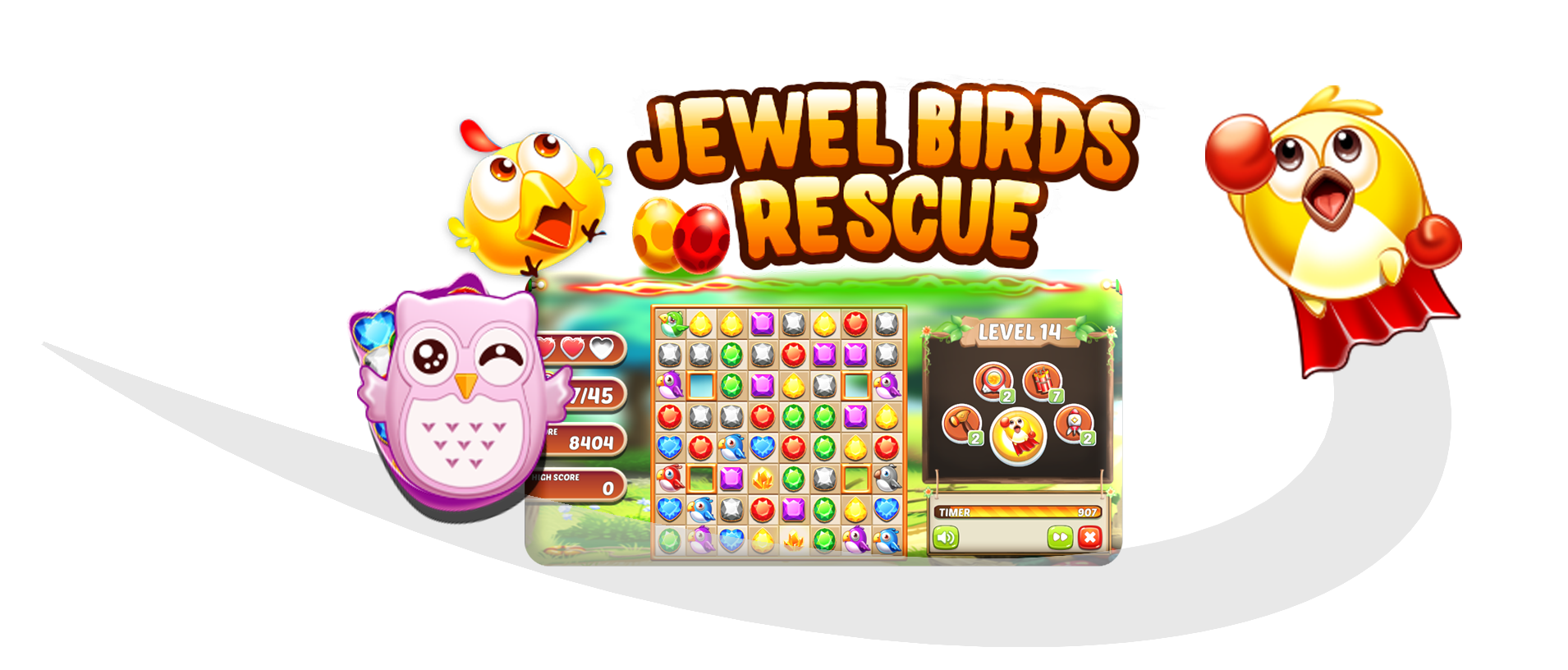 Jewel Birds Online Game Tournaments