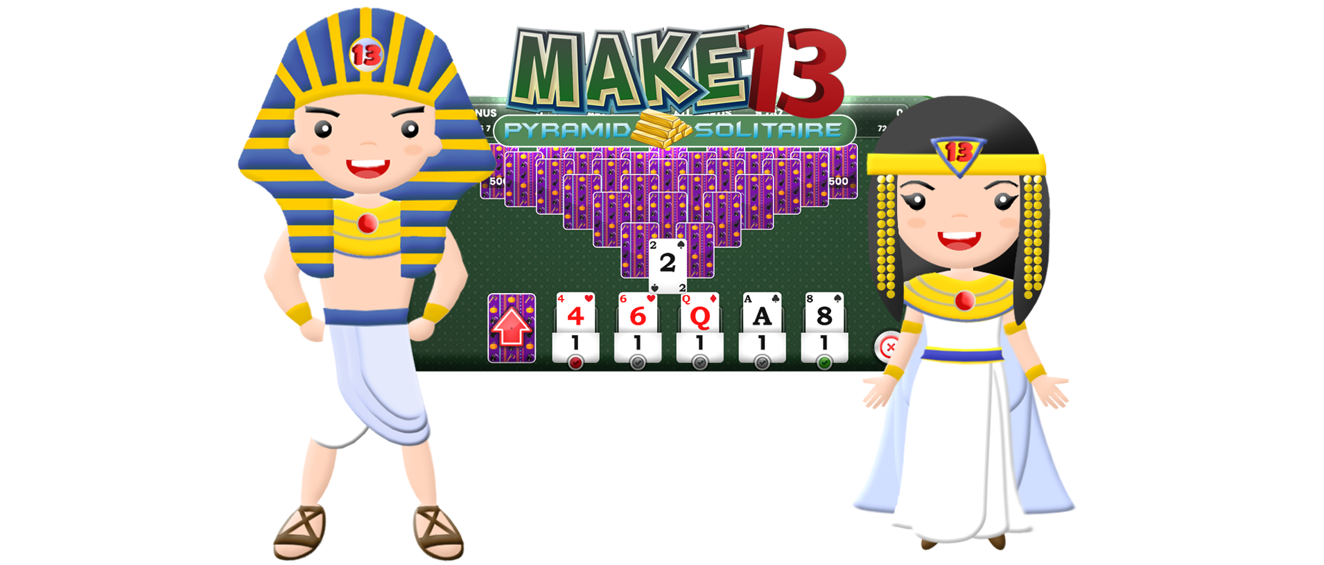 Make 13 Online Pyramid Solitaire Tournaments