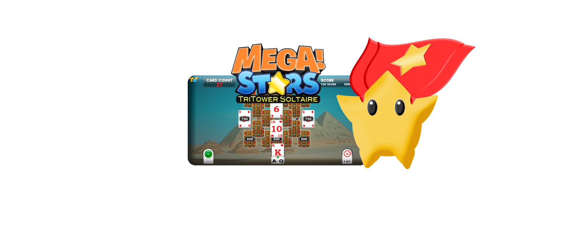 Mega Stars Tri-Tower Solitaire Tournaments