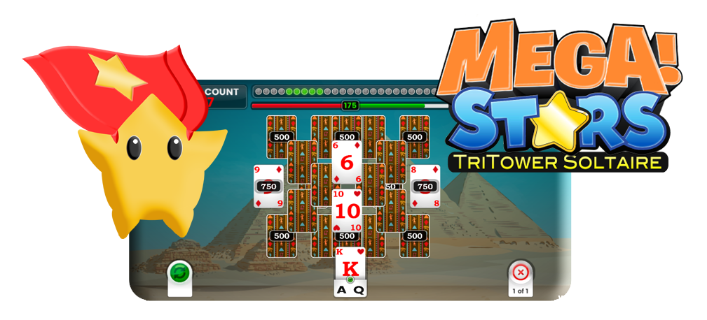 Mega Stars Tri-Tower Solitaire